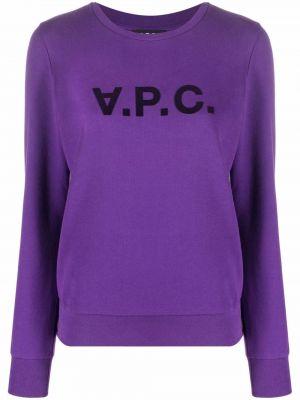 Хлопковый свитшот - фиолетовый A.p.c.