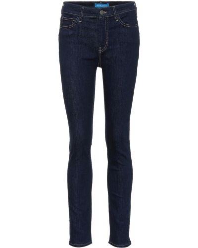 Niebieski zawężony bawełna bawełna obcisłe dżinsy Mih Jeans