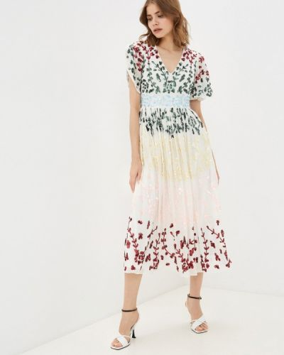 Платье с оборками - белое Frock And Frill