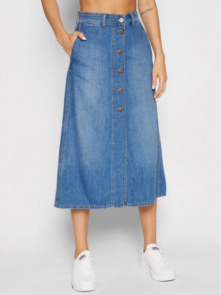 Spódnica jeansowa - niebieska Lee
