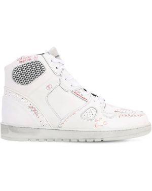 Białe sneakersy skorzane sznurowane Ales Grey