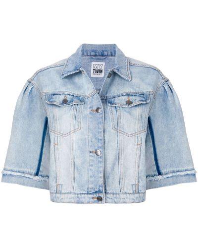 Джинсовая куртка укороченная свободная Twin-set