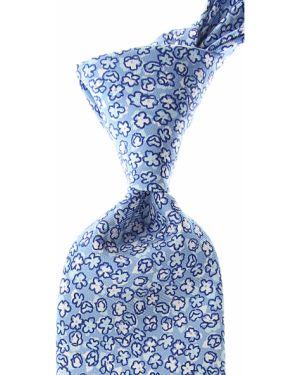 Biały krawat z jedwabiu Battistoni