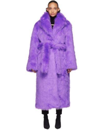 Плюшевое черное стеганое длинное пальто Vetements