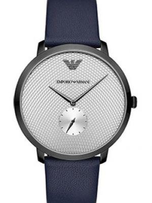 Часы механические водонепроницаемые с кожаным ремешком Emporio Armani
