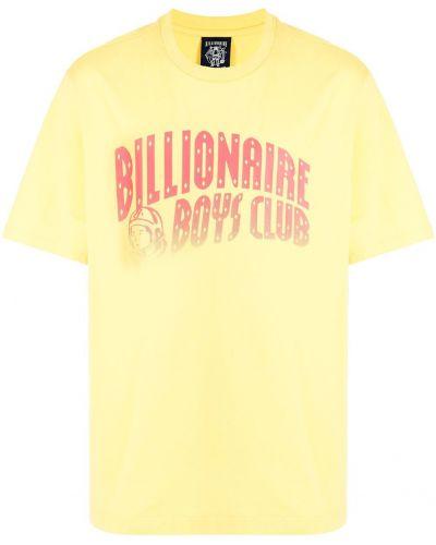 Желтая футболка с логотипом Billionaire Boys Club