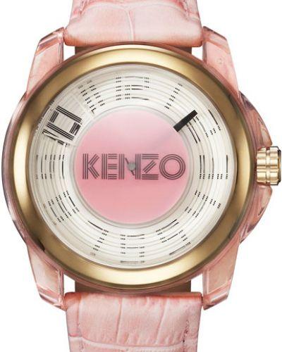 Водонепроницаемые часы на кожаном ремешке розовый Kenzo
