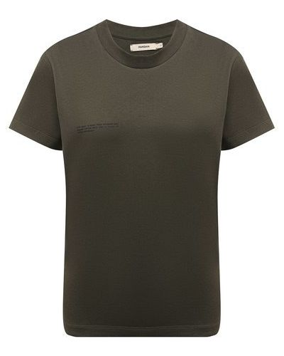 Хлопковая футболка - зеленая Pangaia