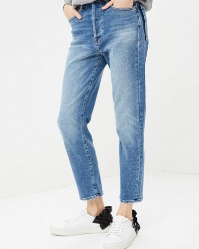Синие джинсы бойфренды Frame