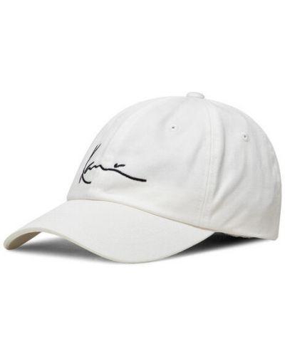 Biała czapka z daszkiem Karl Kani