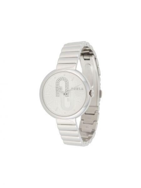 Srebro zegarek okrągły Furla