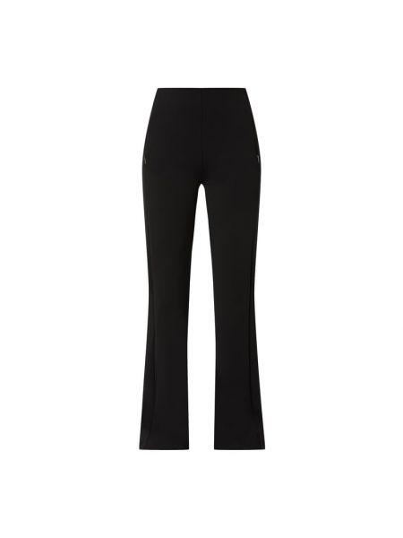 Czarne spodnie materiałowe rozkloszowane Marc Cain