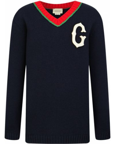 Пуловер синий Gucci Kids