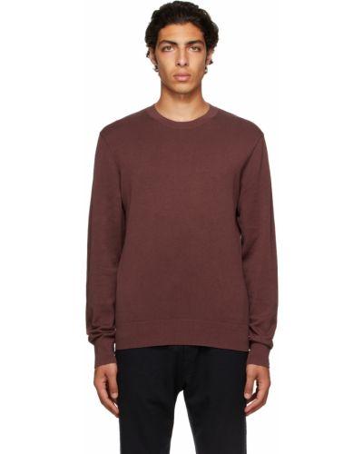 Sweter bawełniany - brązowy Rag & Bone