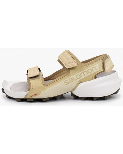 Бежевые кожаные сандалии Salomon