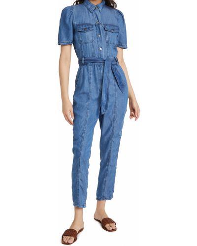 Синий комбинезон с шортами с карманами с короткими рукавами Bb Dakota