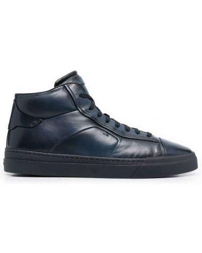 Niebieskie sneakersy Santoni
