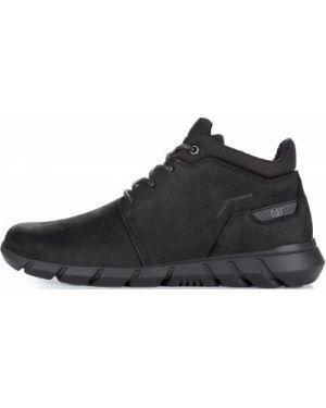 Кожаные ботинки со шнуровкой черные Caterpillar