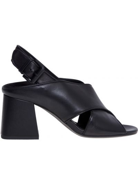Czarne sandały skorzane Vic Matie