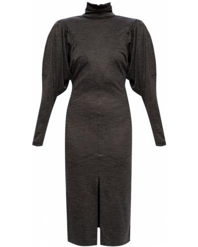 Sukienka z długimi rękawami - szara Isabel Marant