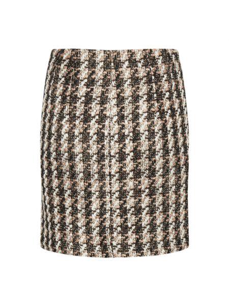 Czarna spódnica mini elegancka z cekinami Inwear