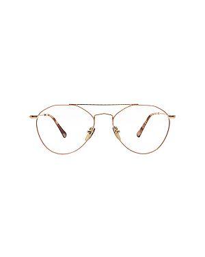 Очки металлические золотые Diff Eyewear