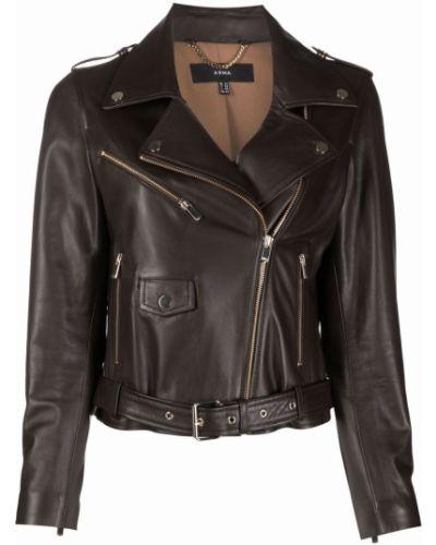 Кожаная куртка на молнии - коричневая Arma