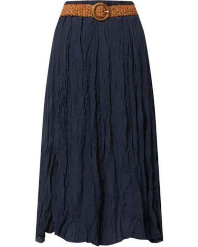 Niebieska spódnica midi rozkloszowana z wiskozy Apricot