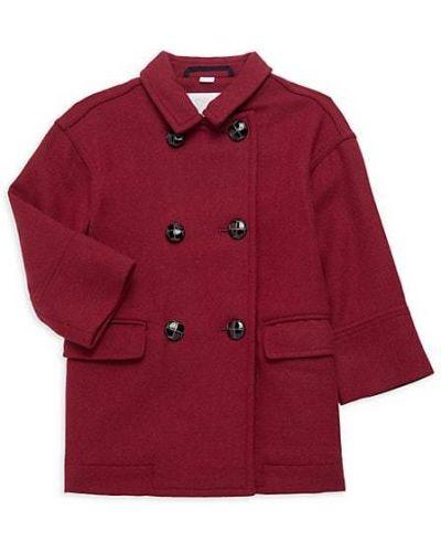 Klasyczny długi płaszcz wełniany z długimi rękawami Burberry