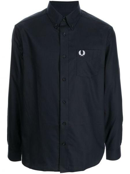 Длинная рубашка - синяя Fred Perry