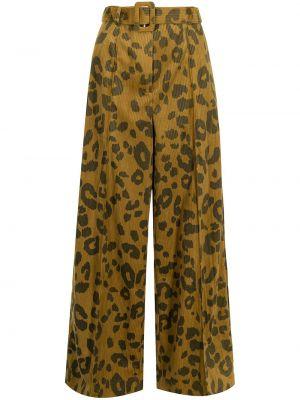 Brązowe spodnie sztruksowe Rokh