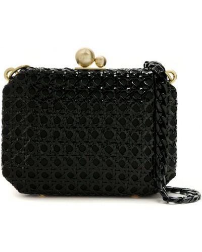 Черная соломенная сумка Isla