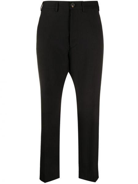 Przycięte spodnie z kieszeniami czarne Vivienne Westwood Anglomania
