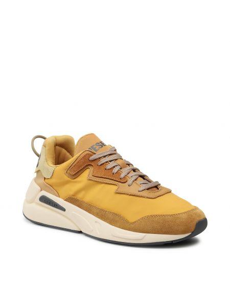 Złote buty sportowe - żółte Diesel