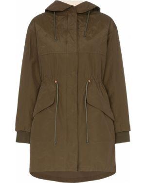Нейлоновая длинное пальто айвори на пуговицах See By Chloé