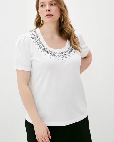 Белая футболка с короткими рукавами Persona By Marina Rinaldi