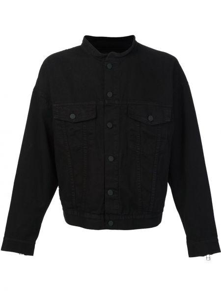 Czarna kurtka bawełniana zapinane na guziki Daniel Patrick