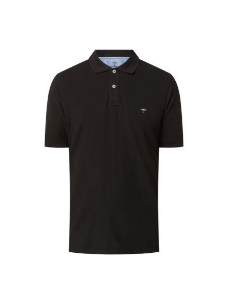 T-shirt bawełniana - czarna Fynch-hatton