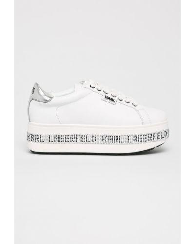 Кроссовки на платформе белый Karl Lagerfeld