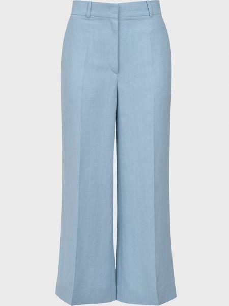 Шелковые брюки - голубые Rochas