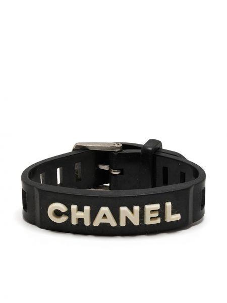 Черный браслет винтажный Chanel Pre-owned