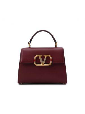 Кожаный топ - бордовый Valentino