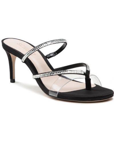 Czarne sandały zamszowe Schutz