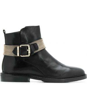 Ботинки на каблуке - черные Steffen Schraut