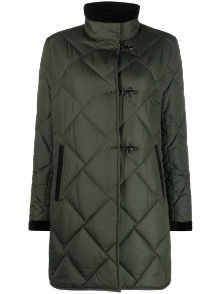 Стеганое пальто - зеленое Fay
