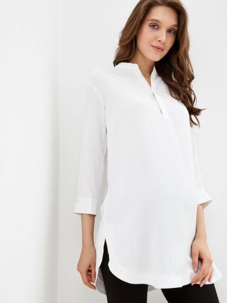 Блузка с длинным рукавом белая осенняя Budumamoy