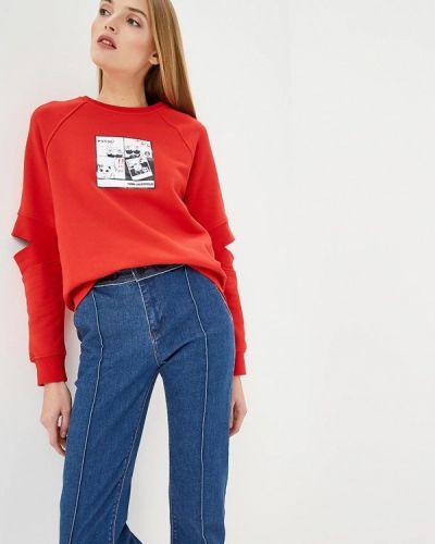 Красный свитшот Karl Lagerfeld