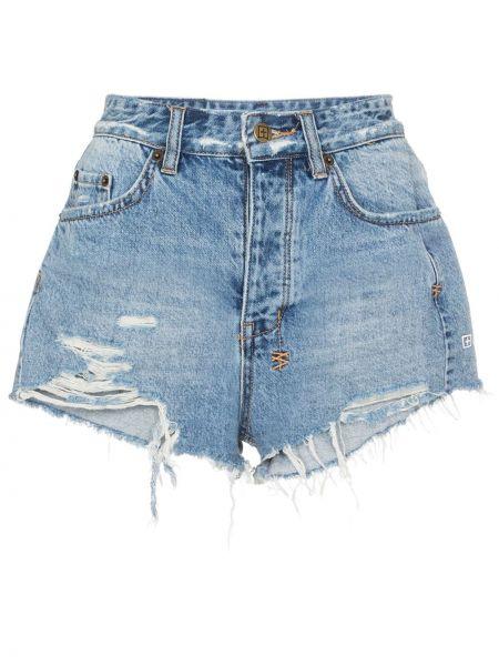 Джинсовые шорты с карманами со стразами на пуговицах Ksubi