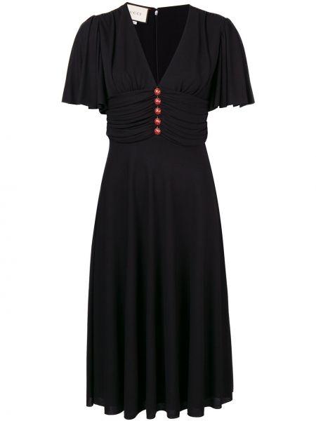 Платье мини миди на пуговицах Gucci