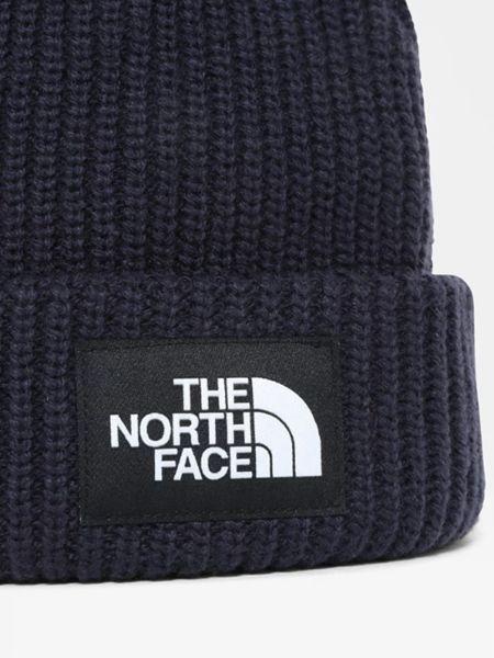Шапка с отворотом - синяя The North Face